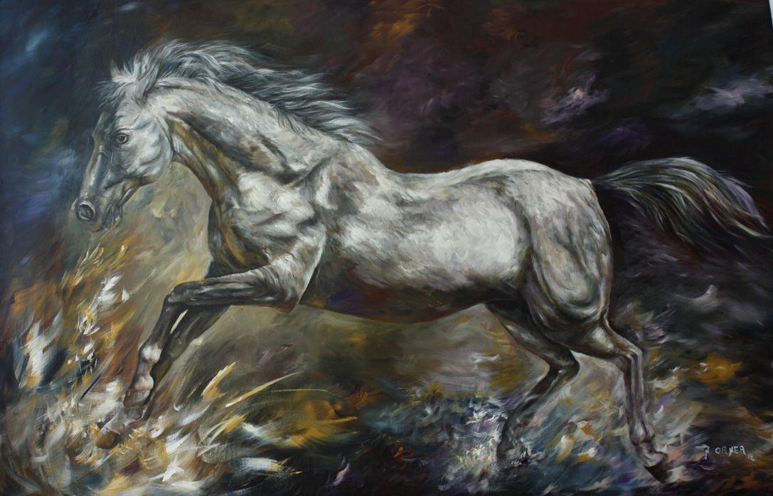 ציור סוסים דגים ועוד